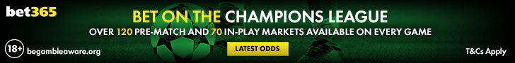Bet on the Champions League with Bet365