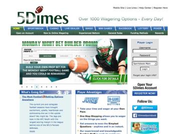 5Dimes eu Bonuses | 5Dimes Sign Up and Reload Bonus