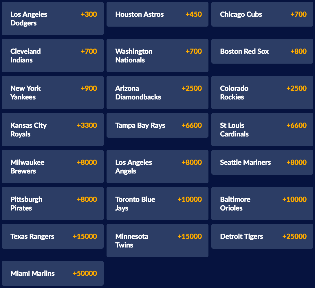 World Series 2017 Outright at Sports Interaction